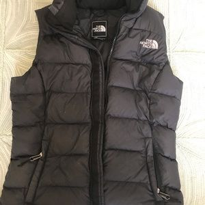 North face black vest size Xsmall